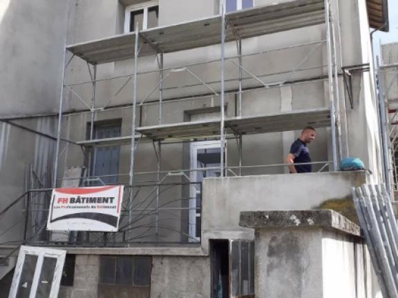 Réfection d'une façade à Bourgoin Jallieu