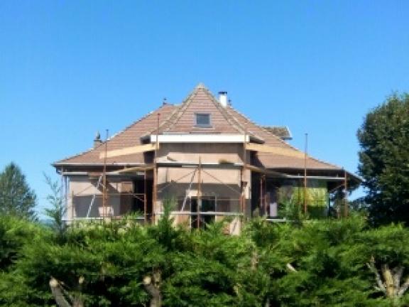 Rénovation d'une toiture à Pressins